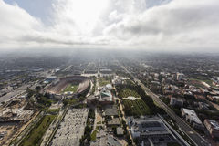 Den Los Angeles coliseumen och utläggning parkerar museer royaltyfri bild