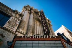 Den Los Angeles teatern, i i stadens centrum Los Angeles, Kalifornien Fotografering för Bildbyråer