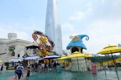 Den Lotte världsamusmenten parkerar i Sydkorea Royaltyfri Bild