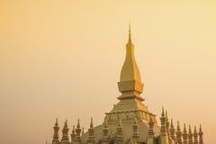Den Luang, Vientiane Royaltyfri Fotografi
