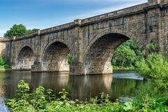 Den Lune dalakvedukten, som bär den Lancaster kanalen över Arkivfoton
