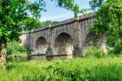 Den Lune dalakvedukten, som bär den Lancaster kanalen över Royaltyfria Bilder