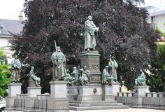 Den Luther monumentet avmaskar in, Tyskland Fotografering för Bildbyråer