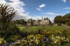 Den Luxembourg slotten och parkerar Royaltyfria Bilder