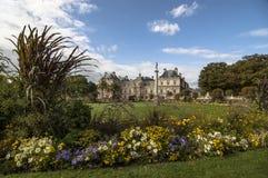 Den Luxembourg slotten och parkerar Arkivfoto