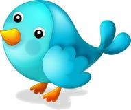 Den lyckliga blåa fågeln - illustration för barnen Royaltyfri Fotografi