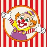 Den lyckliga clownen möter gäster också vektor för coreldrawillustration Fotografering för Bildbyråer