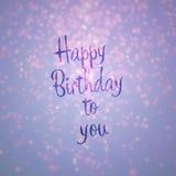 Den lyckliga födelsedagen till dig Card Arkivfoto