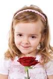 den lyckliga flickan little steg Arkivfoto