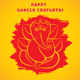Den lyckliga ganeshchaturthien skissar hälsningkortdesign Royaltyfri Bild