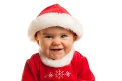 Den lyckliga julen behandla som ett barn Royaltyfri Fotografi