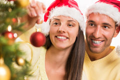 Den lyckliga julen kopplar ihop Royaltyfri Fotografi