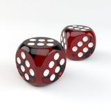 Den lyckliga kasinot tärnar Arkivbild