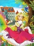 Princessen - den härliga Manga flickan - illustration Arkivbild