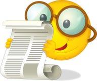 Den lyckliga solen med en tidning - illustration för barnen Arkivbild
