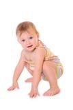 Den lyckliga ståenden behandla som ett barn Royaltyfri Fotografi