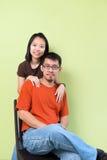 Asiatet kopplar ihop Royaltyfri Bild