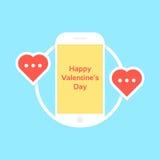 Den lyckliga valentindagen gillar messaging Royaltyfri Bild