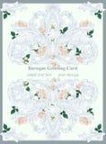 Den lyxiga barocka prydnaden med rosor blommar bakgrundsvektorn Delikata rika imperialistiska invecklade beståndsdelar Viktorians Royaltyfria Bilder