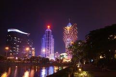 Den lyxiga kasinot tillgriper i Macao Royaltyfri Fotografi