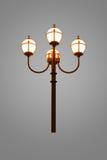 Den lyxiga lampstolpekulan formade cirkeln på grå bakgrund Royaltyfria Foton