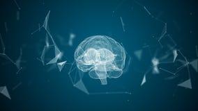 Den mänskliga hjärnan bildas, genom att rotera partiklar arkivfilmer