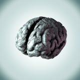 Den mänskliga hjärnan slogg in i de gemensamma dagliga sinnesrörelserna en personwou Royaltyfri Illustrationer
