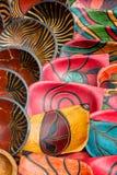 Den målade handen bowlar bakgrund Fotografering för Bildbyråer
