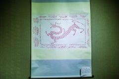 Den målade kinesiska draken Royaltyfri Bild