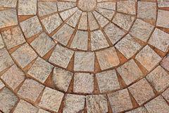 Mönstrad uteplats för abstrakt dekorativ tegelsten arkivfoton