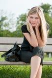 In den Mühen - deprimierte junge Frau Stockfoto