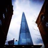 den 306m vinkeln är för london för landmarken för hdr för eu för byggnadskonstruktion willen för skyen den nya scrapper skärvan s Royaltyfria Bilder