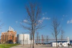 Den Maat konstmuseet, arkitektur och teknologi är ett museum i Lissabon, Portugal royaltyfria bilder