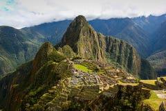 Den Machu Picchu incaen fördärvar Arkivbild