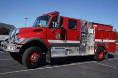 Den Madera County brandstationlastbilen i Oakhurst, Kalifornien Royaltyfri Bild