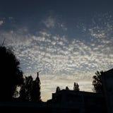 Den magiska himlen över dagiset Arkivbilder