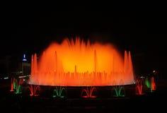Den magiska springbrunnen - barcelona Royaltyfri Bild
