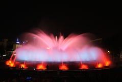 Den magiska springbrunnen - Barcelona Royaltyfri Fotografi