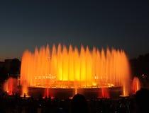 Den magiska springbrunnen - Barcelona Arkivbilder