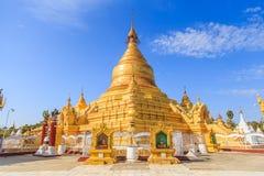 Den Maha Lawka Marazein Kuthodaw Central pagoden, Myanmar Arkivfoto