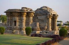 Den Mahadeva templet som byggs circa 1112 CE, Itagi, Karnataka Arkivbilder