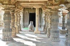Den Mahadeva templet, västra Chalukya, Itagi, Koppal, Karnataka Arkivfoto