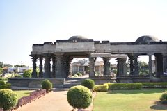 Den Mahadeva templet, västra Chalukya, Itagi, Koppal, Karnataka Arkivbilder