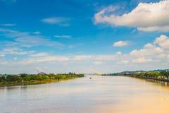 Den Mahakam floden Royaltyfri Foto