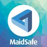 Den MaidSafe HEMBITRÄDET decentraliserade logo för vektor för blockchaincriptocurrencynätverk Arkivfoton