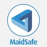 Den MaidSafe HEMBITRÄDET decentraliserade logo för vektor för blockchaincriptocurrencynätverk Royaltyfria Bilder