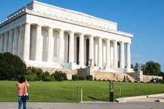 Den majestätiska Lincoln Memorial, Washington D C, arkivfoto