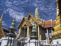 Den majestätiska storslagna slotten i Bangkok Arkivbilder