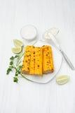 Den majskolv lagade mat havren Royaltyfri Foto