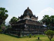 Den Makmo Stupa på Wat Visoun, Luang Prabang, Laos Arkivbilder